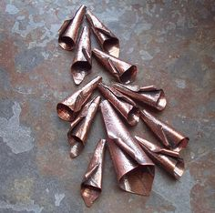 Metal Bead Cones - The Cerebral Dilettante: Experiments in Copper
