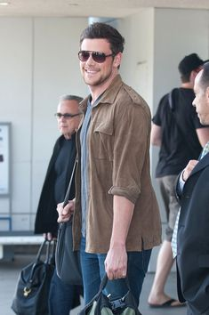 Cory Monteith - Cory Monteith at LAX rest in peace, beautiful soul...