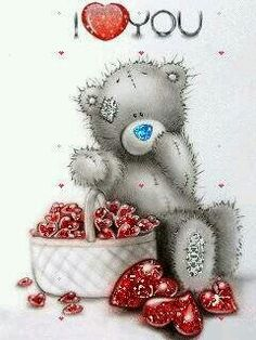 Tatty Teddy sending love this holiday season! Tatty Teddy, Blue Nose Friends, Bear Pictures, Cute Pictures, Bear Images, Gif Noel, Love Bear, Cute Teddy Bears, Glitter Graphics