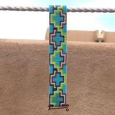 The ABQ Bead Loom Bracelet Artisanal Jewelry Native by PuebloAndCo