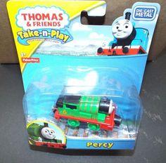 Thomas & Friends Take n Play PERCY Die-cast Metal #FisherPrice