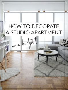 Live in a studio apartment and need to create a room divider? Need some studio apartment ideas? Learn how to here! #roomdivider #roomdividerideas #studioapartmentideas #tinystudioapartmentideas #studioapartmentdecorating #decoratingonabudget #smallapartme Nyc Studio Apartments, Studio Apartment Living, Studio Condo, Studio Apartment Layout, Studio Apartment Decorating, Small Apartments, Apartment Ideas, Apartment Chic, Small Spaces