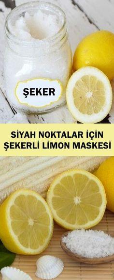 Siyah Noktalar İçin Şekerli Limon Maskesi