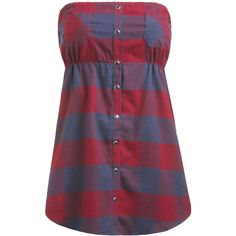 Snap Front Plaid Tube Top ($2) ❤ liked on Polyvore featuring tops, shirts, blusas, tube tops, tank tops, women, wet seal shirts, purple plaid shirt, empire waist tops and purple shirt