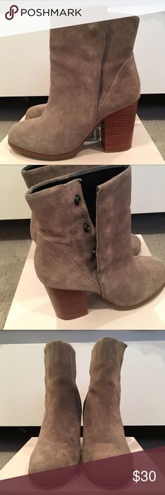 Soul Society Ankle Booties Suede ankle booties, minor water stains pictured above Sole Society Shoes Ankle Boots & Booties