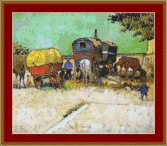 Gypsy Camp Near Arles Cross Stitch Pattern