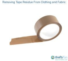 A name tag, price sticker or tape can leave adhesive on cloth. This guide is about removing tape residue from clothing or fabric.