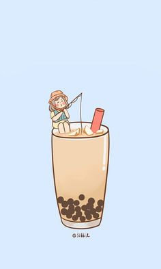 Ideas For Line Art Cartoon Illustrations Tea Wallpaper, Cute Anime Wallpaper, Cute Wallpaper Backgrounds, Wallpaper Iphone Cute, Cute Cartoon Wallpapers, Aesthetic Iphone Wallpaper, Arte Do Kawaii, Anime Kawaii, Kawaii Drawings