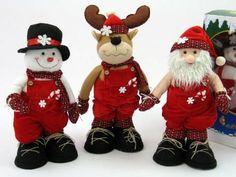 Decoracion en Dorado, platas..... para Navidad clasico, moderno...... Felt Christmas Decorations, Christmas Crafts, Christmas Ornaments, Holiday Decor, Christmas Kiss, Xmas, Christmas Gingerbread, Felt Dolls, Pretty And Cute
