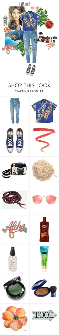 """watermelon summer"" by wildmiu on Polyvore featuring мода, Levi's, Scotch & Soda, Converse, Ellis Faas, Betsey Johnson, Le Métier de Beauté, Ray-Ban, Olivine и Victoria's Secret"