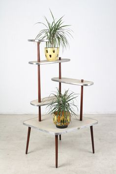 Giant Plant Holder with Walnut Parts | Studio Fabrika