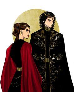 I don't ship Reylo, but this art is beautiful Rey Star Wars, Star Wars Fan Art, Star Trek, Character Concept, Character Art, Character Design, Elfen Fantasy, Kings & Queens, Star Wars Personajes