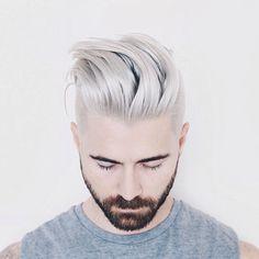 Silver platinum hair