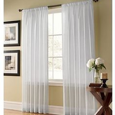 Two Panels Curtain Modern , Solid Bedroom Polyester Material Sheer Curtains Shades Home Decoration For Window 345832 2017 – $20.69