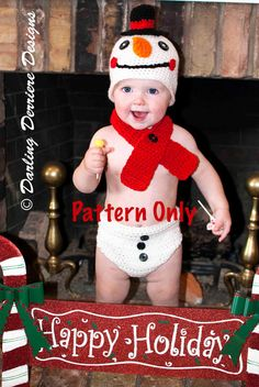 Once the was a Snowman Pattern!!! So fun for Christmas pictures for cards!