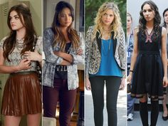 Even though they're BFFs, the Liars all have their own unique sense of style. Aria's the trendiest of the bunch—unafraid of bold patterns and layering on cool, edgy accessories. Emily likes to keep things simple and sporty, but her jeans and tees are anything but boring. Hanna's the glam-girl: she loves cute dresses and the highest heels around, but she also never misses the chance to throw on a fun pop of color. There's Spencer, whose preppy-cool style perfectly matches her bright…