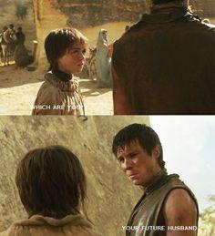 Arya and Gendry Fan Art: Arya & Gendry