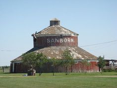 "Old Red & Round...""Sanborn"" Barn...very unique."
