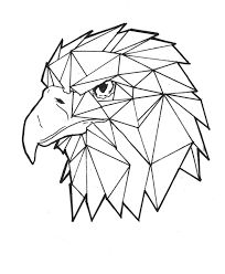 53 Ideas for origami dessin aigle Geometric Drawing, Geometric Shapes, Arte Linear, Tape Art, Desenho Tattoo, Animal Design, Geometric Designs, String Art, Cool Drawings
