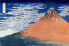 Le Fuji rouge Hokusai (1760-1849) réalisa sa célèbre série des 36 vues du Mont Fuji entre 1831 et 1833 (en réalité 46 estampes). Cette série aura une diffusion très large aussi bien au Japon qu'en Europe, certaine de ces estampes sont devenues des références...