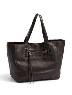 Les sacs Adam 1980 - leather shoulder tote bag with
