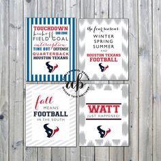 Houston Texans Printable Football Signs (Set of 4)