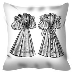 Victorian Dress Coloring Pillow By Tinge&Hue