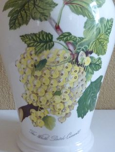 Vintage Portmeirion Flower Vase The White Dutch Currant made in England