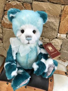 Bears Pamper ~ Stunning Plush Bear By Charlie Bears ~ Such A Sweet Face!!