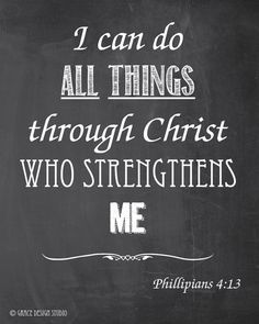 Inspirational Chalk Art - I Can Do All Thangs - Printable Instant Download - jpg files - pinned by pin4etsy.com