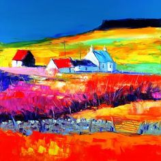 John Lowrie Morrison OBE, known as Jolomo, is a Scottish contemporary artist, producing expressionist oil paintings of Scottish landscapes. Education: Glasgow School of Art Landscape Artwork, Watercolor Landscape, Cottage Art, Seascape Paintings, Oil Paintings, Mural Art, Art Images, Art Photography, Canvas Art