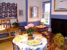 Alexandra Stoddard's kitchen - ala Monet's garden.