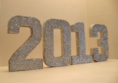 #NEW YEARS EVE #PARTY #DECORATION #Glittered Letters, Featured on the Wedding Chicks. $54.00, via Etsy.