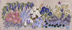 "** ""Blue Garden Needlebook"" Brazilian Dimensional Embroidery Pattern @frenchneedle"