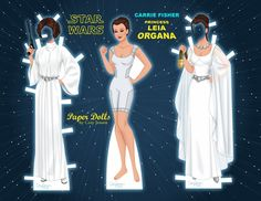 Printable Princess Leia Paper Dolls By Cory1