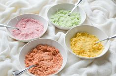 DIY Naturally Coloured Sugars - easy 'How-To' using beets, onion skins, turmeric and spinach.