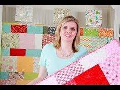[Video Tutorial] Layer Cake Lemonade - Shortcut Quilt Series (uses 1 Moda Layer Cake) - Fat Quarter Shop - YouTube