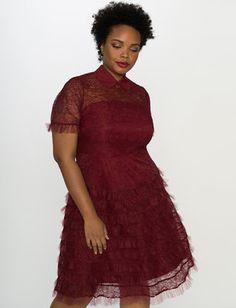 Studio Lace Ruffle Dress
