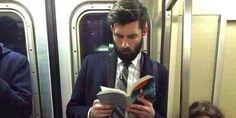 Hot dudes reading. Get me back to NYC soon!  #hotdudesreading