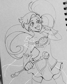 """""Aurianna, Princess of Volta!"" #Inktober #Lolirock #MagicalGirl #illustration"""