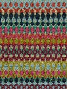 Modern Upholstery Fabric    Orange Teal Purple by PopDecorFabrics, $88.00