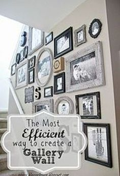 Splendid how to gallery wall pictures create efficient, home decor, wall decor (love that this one even has S's!) The post how to gallery wall pictures create efficient, home decor, wall decor . Diy Home Decor, Room Decor, Hanging Pictures, Wall Pictures, Stairwell Pictures, Family Pictures, Frames On Wall, Art Frames, White Frames