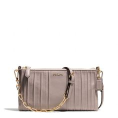 Definitely on my WANT list!! The Madison Kylie Crossbody In Pintuck Leather from Coach.