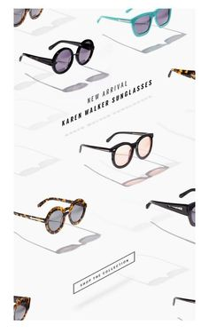 Karent Walker Sunglasses promo email | Steven Alan Design | designinspiration.net