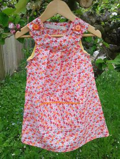 Pretty Tangerine dream dress for girls 6 months to by Cordelicious, £20.00 on Etsy whoopppeee