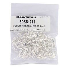 Earring Findings 150051: Beadalon 144-Piece Small Modern Ear Wire, Nickel Free Silver Plate -> BUY IT NOW ONLY: $46.27 on eBay!
