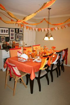 Orange themed cooking party
