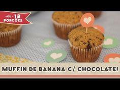 Muffin de Banana com Chocolate | Receitas de Minuto - A Solução prática para o seu dia-a-dia!