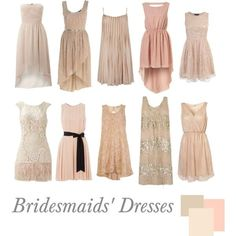Some gorgeous Blush toned Bridesmaid dresses
