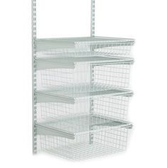 Shop ClosetMaid ShelfTrack Wire Kit - White at Lowe's Canada. Find our selection of wire closet organizers at the lowest price guaranteed with price match + off. Boys closet we can't fit a dresser Wire Closet Shelving, Closet Shelves, Closet Storage, Craft Closet Organization, No Closet Solutions, Closet Drawers, Closet System, Metal Drawers, Closet Designs